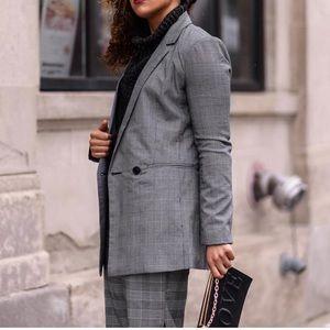 Jackets & Blazers - Plaid Double Button Blazer